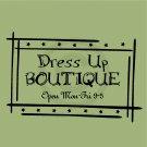 Dress Up Boutique