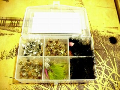 40 Flies - Trout Fly assortment Box