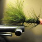 1 Dzn - Woolly Bugger Leech Trout or Pan fish -  Olive