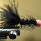 1 Dzn - Woolly Bugger Leech Trout or Pan fish -  Black