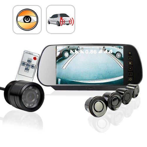 CVEZJ-700HH Car Reversing Set - Sensors + Rearview Camera + Rearview Screen