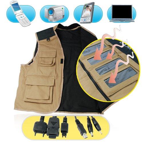 Solar Vest - Solar Battery + Charger for Portable Electronics  [CVFR-S09]