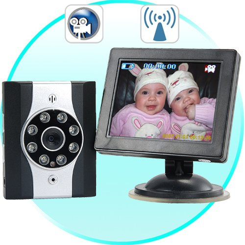 Wireless Car Baby Monitor with Night Vision + DVR  [CVLL-DV24]
