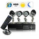 Complete Surveillance Kit (H246 DVR + 4 SONY CCD Weatherproof Camera + 500GB HDD)