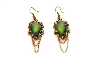 Green Emerald Vintage Earrings