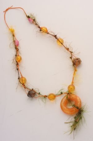 Orange/Green String Necklace