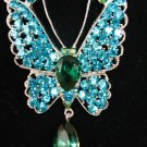 Swarovski Turquoise Butterfly Necklace