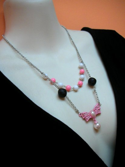 Sizuka Pink 2layer Necklace