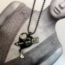D'arcy Rock Heart Black Necklace