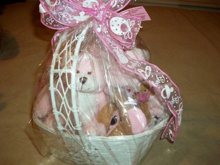 Pink Robe w/ Bear wash mitt & cuddly Bear