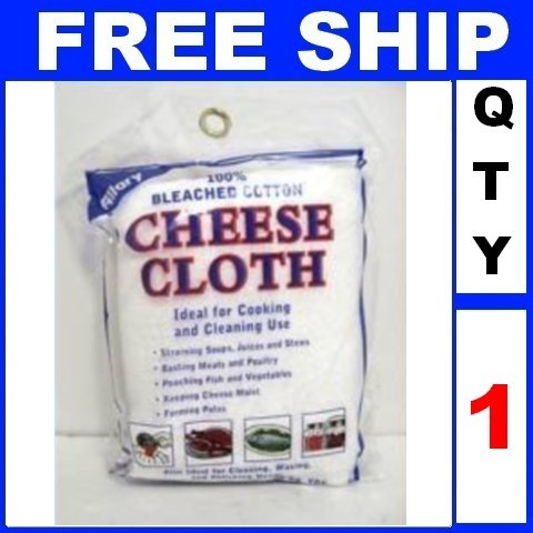 NEW 1 Bag 100% Bleached Cotton CHEESE CLOTH CHEESECLOTH (2 yards/Lot)