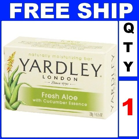 NEW 1 Bar Soap YARDLEY Fresh Aloe Moisturizing (4.25oz/Bar)