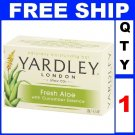 NEW 1 Bar Soap YARDLEY Fresh Aloe Moisturizing (4.25oz/Bar)