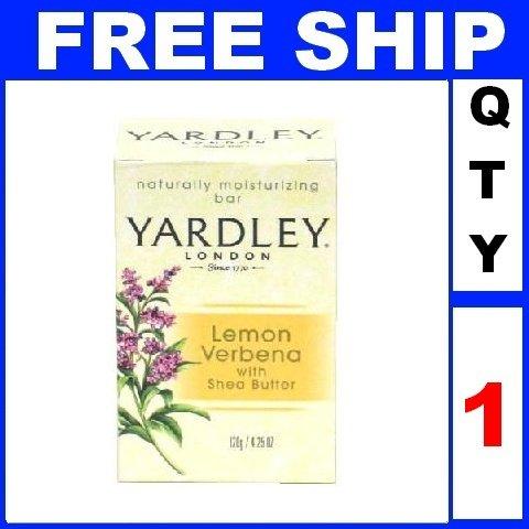 NEW 1 Bar Soap YARDLEY Lemon Verbena With Shea Butter Moisturizing (4.25oz/Bar)