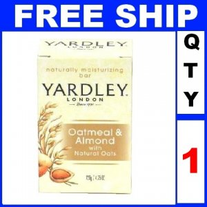 NEW 1 Bar Soap YARDLEY Oatmeal & Almond Moisturizing (4.25oz/Bar)