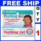 NEW 1 Tube Dr Sheffields Baby Infant TEETHING GEL Pain Medicine (1/3oz/Tube)