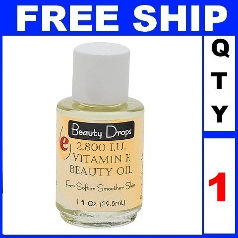 NEW 1 Bottle Beauty Drops VITAMIN E BEAUTY OIL 2800 IU (1oz/bottle)