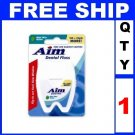 NEW 1 Box AIM NYLON DENTAL FLOSS Mint Wax (120 yards/Lot)