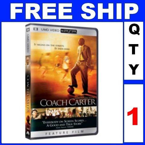 NEW 1 Video UMD COACH CARTER For PSP