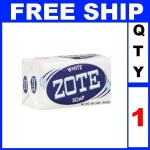 NEW 1 Bar Soap WHITE ZOTE Fishing Baits catfish bait mosquito repellent (14oz/Bar)