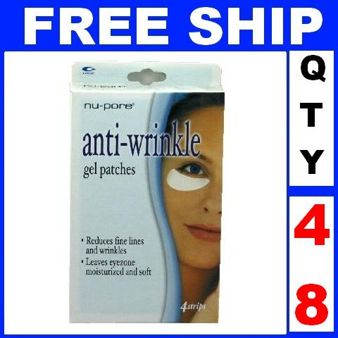 NEW 48 Boxes NU-PORE ANTI WRINKLE Eye Gel Patches Mask (2 treatments/box)