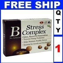 NEW 1 Pack GSL Technology B Stress Complex  No Artificial Colors, Flavors or Pre