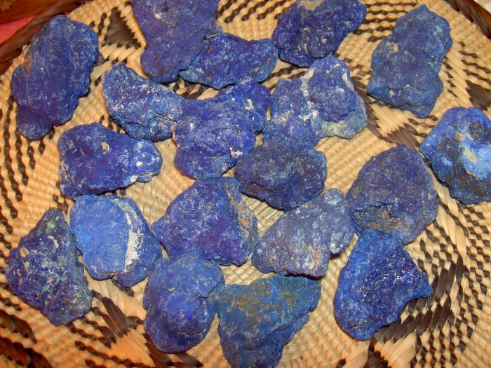 "Azurite ""The Stone of Heaven"" developes psychic awareness. Aligns chakras"