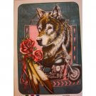 Queen Size Blanket - Wolf-Bike