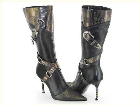 The Black Nuray Knee High Boot