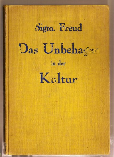 Das Ungehagen in der Kultur by Sigmund Freud, 1930 edition, cloth binding