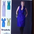Simplicity sewing pattern 2497 Cynthia Rowley ruffle neckline dresses size 12-20 .