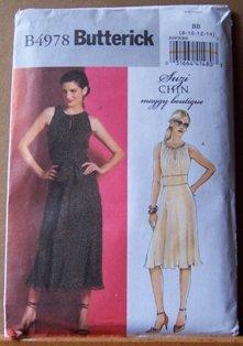 Butterick b4978 or 4978 Suzi Chin Maggy Boutique dress pattern size 8-14 .