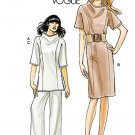 Vogue 8512 or v8512 pattern for MCM Pan Am style, retro dress or tunic and slacks, size 8-16 .
