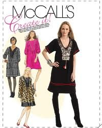 McCall's pattern M5928 or 5928 Boho peasant dresses, could be tribal costume.