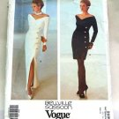 Vogue 2596 vintage 1990 Bellville Sassoon gown cocktail dress
