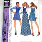 McCall's 3742 vintage 1973 pattern for long and short skirts and vest, size 8