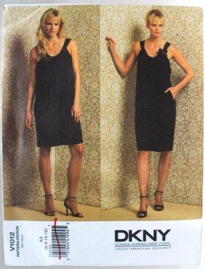 Donna Karan Vogue 1012 DKNY coctail dress pattern v1012 size 6-12  .