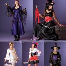 Simplicity 2502 pattern for Halloween witch, goth, Steampunk costumes 16-24