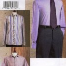 Vogue v8096 or 8096 pattern men's button down business shirts sizes 46-50