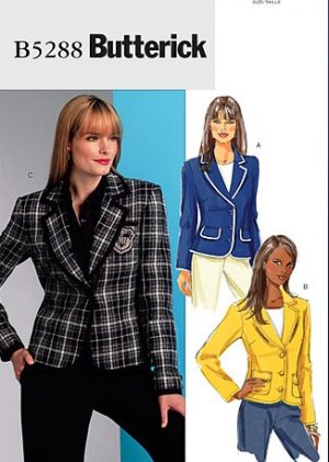 Butterick B5288 or 5288 pattern misses petite jacket size 6-12 .