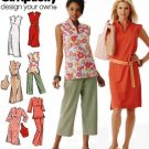 Simplicity 4190 Design your own pattern, Mandarin or stand up collar tops or dresses with pants