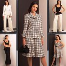 Vogue v1042 or 1042 pattern for mixed pieces including retro dress, bootcut pants sizes 6-12.