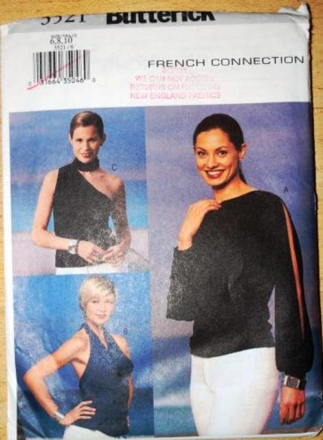 Butterick pattern 3521 French Connection blouses and tops size 6-10