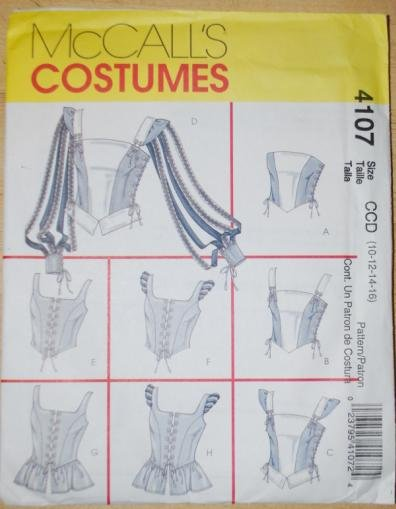 McCall's 4107 pattern for Renaissance corsets vests tops