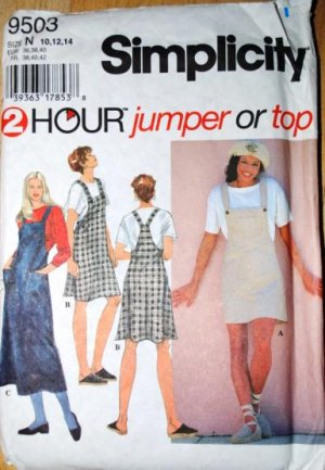 Simplicity 9503 2 Hour pattern jumpers or top size 10-14 .