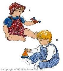 Kwik Sew pattern 2568 kids' rompers sizes s-l.