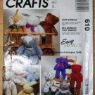 "McCall's 610 crafts pattern for ""Easy Animals"" bear, rabbit, cat, dog by Pamela Crerand"