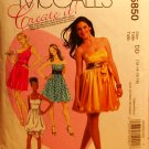 McCall's 5850 pattern for prom dresses size 12-18