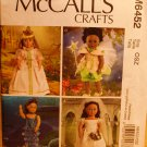 McCall's Crafts 6452 mermaid, fairy costume clothes for 18 inch dolls pattern