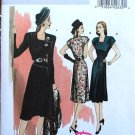 Butterick 5281 B5281 Retro '46 button asymmetrical dress pattern size 6-12